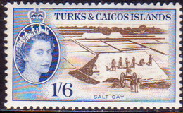 TURKS AND CAICOS ISLANDS 1957 SG #247 1sh6d MNH CV £20 - Turks And Caicos