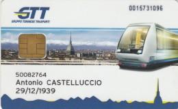 ABBONAMENTO TORINO -PLASTICA DURA-CHIP (M17.4 - Bus