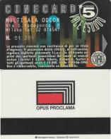 CINECARD MULTISALA ODEON -OPU PROCLAMA (M19.7 - Tickets - Vouchers