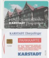 SCHEDA PARCHEGGIO CHIP KARSTADT GERMANIA (M25.3 - Tickets - Vouchers