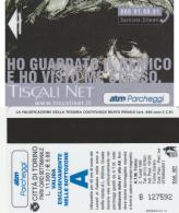 SCHEDA MAGNETICA PARCHEGGIO TORINO - TISCALI (M25.5 - Tickets - Vouchers