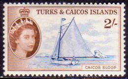 TURKS AND CAICOS ISLANDS 1957 SG #248 2sh MLH CV £16 - Turks And Caicos