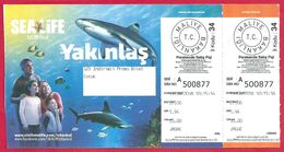 Turquie, Istanbul, Aquarium, 2018 - Tickets - Vouchers