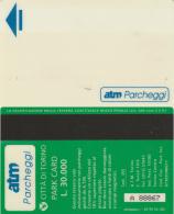 SCHEDA MAGNETICA PARCHEGGIO TORINO - L.30000 (M25.6 - Tickets - Vouchers