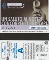 SCHEDA MAGNETICA PARCHEGGIO TORINO - TISCALI (M25.7 - Tickets - Vouchers