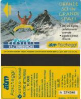 SCHEDA MAGNETICA PARCHEGGIO TORINO - CERVINIA (M25.8 - Tickets - Vouchers