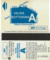 SCHEDA MAGNETICA PARCHEGGIO TORINO -SOTTOZONA A (M28.2 - Tickets - Vouchers