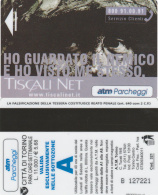 SCHEDA MAGNETICA PARCHEGGIO TORINO - TISCALI (M30.4 - Tickets - Vouchers
