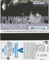 SCHEDA MAGNETICA PARCHEGGIO TORINO - TISCALI (M30.6 - Tickets - Vouchers