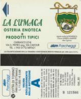 SCHEDA MAGNETICA PARCHEGGIO TORINO -LA LUMACA (GRAFFI SUL RETRO) (M34.6 - Tickets - Vouchers
