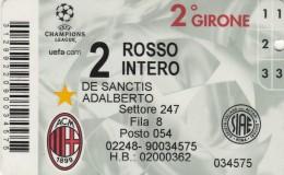 ABBONAMENTO CALCIO MILAN  (M5.4 - Tickets - Vouchers