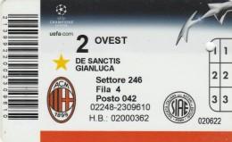 ABBONAMENTO CALCIO MILAN  (M5.8 - Tickets - Vouchers
