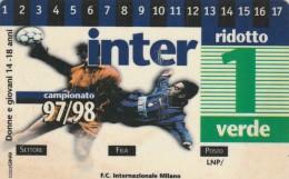 ABBONAMENTO CALCIO INTER (M6.1 - Tickets - Vouchers
