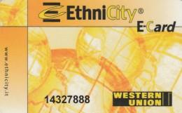 SCHEDA ETHNICITY WESTERN UNION (M6.5 - Tickets - Vouchers