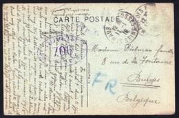 11/01/1918 CARTE D'UN SOLDAT ?  BELGE A ST-MAUR DES FOSSES ( Seine ) Vers Bruges - Tampon OUVERT 706 - 3 Scans - Guerre 1914-18