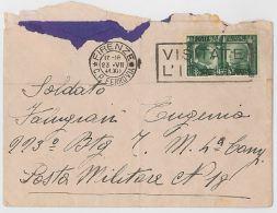 LETTERA 1941 CON CENT.25 TIMBRO FIRENZE (HX142 - 1900-44 Vittorio Emanuele III