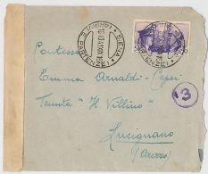 LETTERA 1941 CON 50 CENT. ITA-GERMANIA -TIMBRO SIENA-LUCIGNANO-CENSURA (HX160 - 1900-44 Vittorio Emanuele III