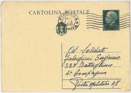 INTERO POSTALE 1942 CENT.15 TIMBRO FIRENZE (HX175 - 1900-44 Vittorio Emanuele III