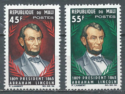 Mali YT N°69/70 Président Abraham Lincoln Neuf ** - Mali (1959-...)