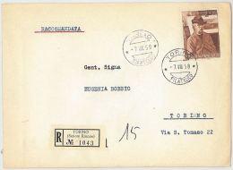 FDC VIAGGIATO RACCOMANDATA 1958 FATTORI L.110 (HX269 - F.D.C.