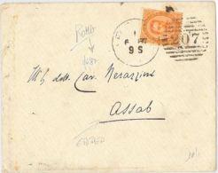 LETTERA 1887 - DIRETTA IN ERITREA -CON 20 CENT. (HX278 - 1861-78 Vittorio Emanuele II