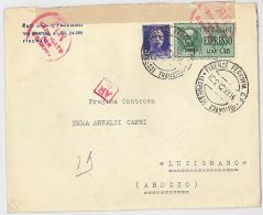 ESPRESSO 1942 CON 50+1,25 VERIFICA CENSURA +TIMBRI FIRENZE LUCIGNANO (HX335 - Marcofilía
