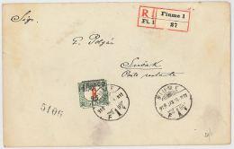 RACCOMANDATA FIUME 1929 CON FRANCO 45 SS SU 6 HELLER-TIMBRO SUSAK  (strappo Al Verso) (HX346 - Fiume