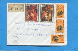 MARCOPHILIE- LettreREC-Tchad>Françe Cad-Saibokoum-1978-5stamps N°A219-Rubens+3-flowers - Chad (1960-...)