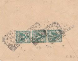 LETTERA 1910 CON 3X5 CENT TIMBRO SIENA (HX539 - 1900-44 Vittorio Emanuele III