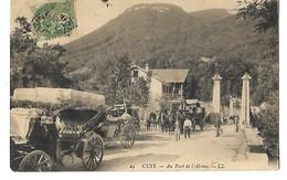 73 CUZY AU PONT DE L'ABIME 1907 CPA 2 SCANS - France