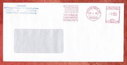 Brief, Francotyp-Postalia B02-4019, TUM Technische Universitaet Muenchen, 100 Pfg, 1990 (50199) - Machine Stamps (ATM)
