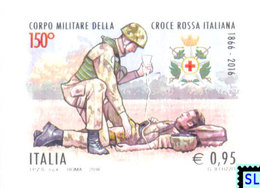 Italy Stamps 2016, The Military Corps Of Italian Red Cross, MNH - Italy