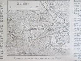 GUERRE 14-18 La Semaine Militaire 2  AU 9 MARS  1916  Offensive Béthincourt Malancourt Esnes Chattancourt + Carte Front - Alte Papiere