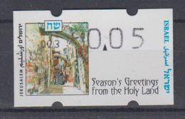 ISRAEL 1997 SIMA ATM CHRISTMAS SEASON'S GREETINGS FROM THE HOLY LAND 0.05 SHEKELS NUMBER 003 - Franking Labels