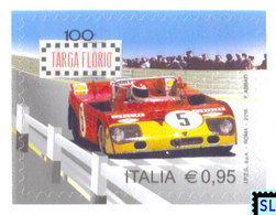 Italy Stamps 2016, Targa Florio Race, Car, Automobile, MNH - Italy