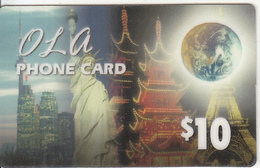 CANADA - Monuments, Ola By Gold Line Prepaid Card $10, Used - Canada