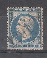 Empire Dentelé N° 22, 20 C Bleu Obl GC 1291 De DENAIN , Nord , Frappe Superbe , TB - 1862 Napoleon III