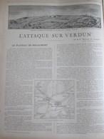 GUERRE 14-18 L Attaque Sur VERDUN      Plaine De La Woevre  Fort Du Rozellier   Fort De Douaumont - Alte Papiere
