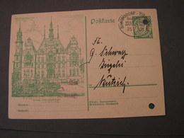 Danzig Bahnpost   1927  Gelochte Karte - Danzig