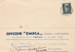 CARTOLINA POSTALE CENT.15 - ANNI 30 - TIMBRO TORINO -OFFICINE OMEGA (MYX46 - 1900-44 Vittorio Emanuele III