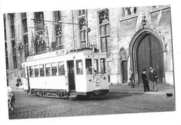 BRUGES BRUGGE (Belgique) Photographie Format Cpa Tramway électrique 1949 - Brugge