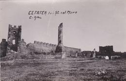 """ROUMANIE . CETATEA- ALBA. UNE PARTIE DE LA CITE BLANCHE. CARTE PHOTO """"A. MEISTER"""". ANNÉES 1938- 1939. - Romania"""