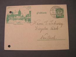 Danzig  Steegen 1927  Gelochte Karte - Danzig