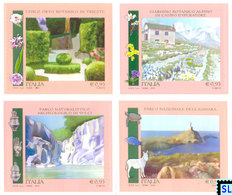Italy Stamps 2015, Parks And Botanical Gardens, Flora, Fauna, MNH - Italy