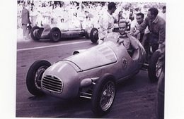 Juan Manuel Fangio Tries A Gordini Type 16 Racing Car  -  15x10 PHOTO - Grand Prix / F1