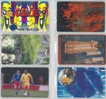 LOT 6 PHONE CARDS ROMANIA (ES1 - Romania