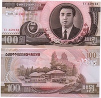Korea North - 100 Won 1992 / 2007 Comm. AUNC Ukr-OP - Korea, North
