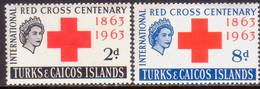 TURKS AND CAICOS ISLANDS 1963 SG #255-56 Compl.set MLH Red Cross - Turks And Caicos