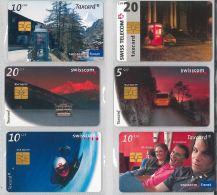 LOT 6 PHONE CARDS SVIZZERA (ES17 - Romania