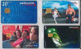 LOT 4 PHONE CARDS SVIZZERA (ES21 - Romania